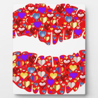 Heart Lips Plaque