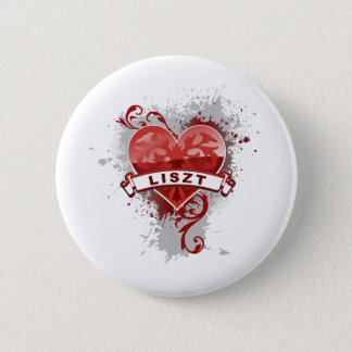Heart Liszt 2 Inch Round Button