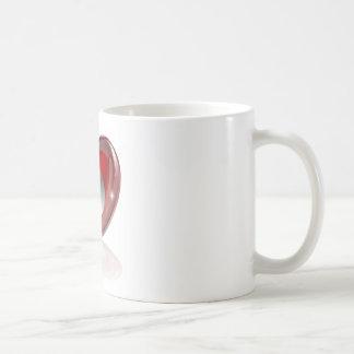 Heart lock and key coffee mugs