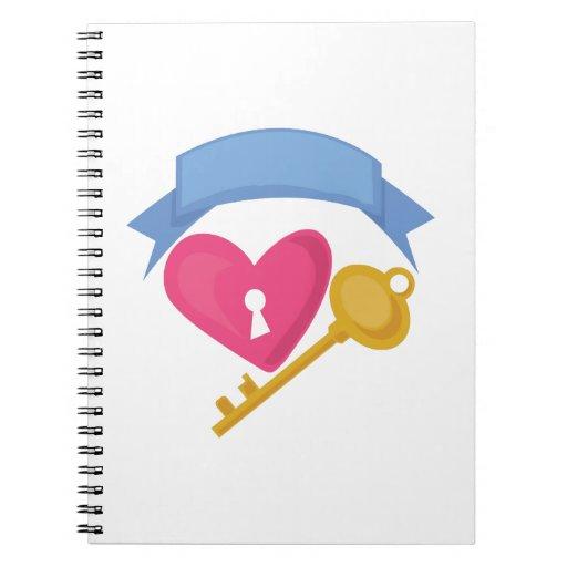 Heart Lock Note Book