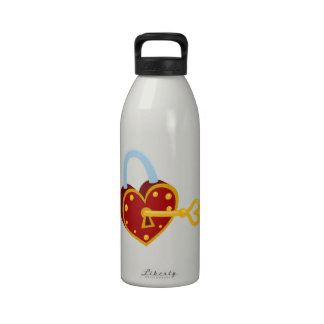 Heart Lock Drinking Bottle