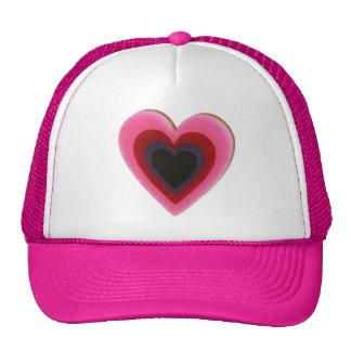 Heart locks and hearts mesh hat