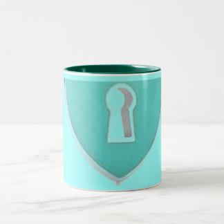Heart locks and hearts mugs
