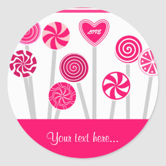 Heart Lollipops Design Sticker