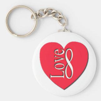 Heart Love (8) Infinity Keychain