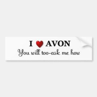 heart/love AVON - ask how Car Bumper Sticker