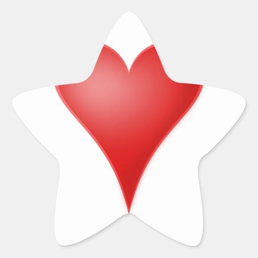 Heart love cool star sticker