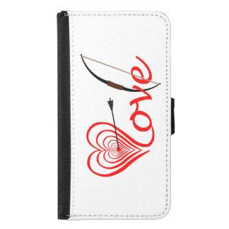Heart love Dartscheibe with arrow and sheet Samsung Galaxy S5 Wallet Case