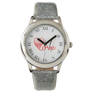 Heart love Dartscheibe with arrow and sheet Watch