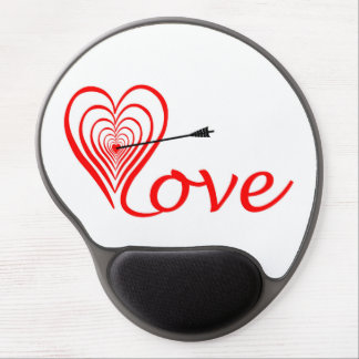 Heart love Dartscheibe with arrow Gel Mouse Pad