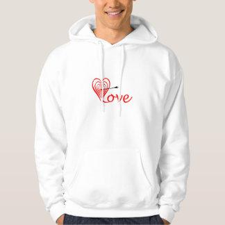 Heart love Dartscheibe with arrow Hoodie