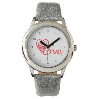 Heart love Dartscheibe with arrow Watch
