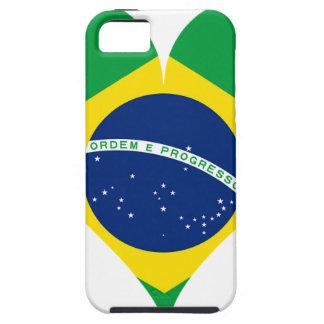 Heart Love Flag Brazil Heart Shaped iPhone 5 Cases