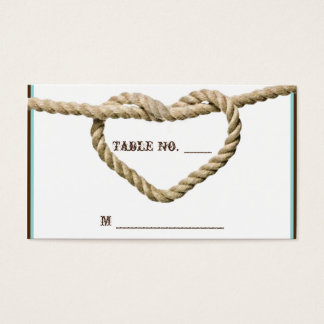 Heart Love Knot Western Wedding Place Cards