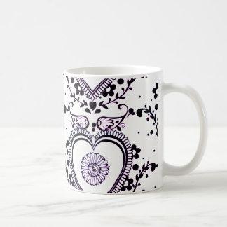 Heart love mosquito coffee mug