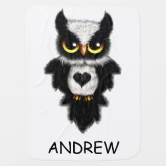 Heart Love Owl Fleece Blanket Personalized Swaddle Blankets
