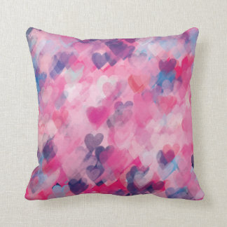 Heart Love Pattern Stylish Whimsy Chic Throw Pillow