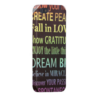 Heart love peace gratitude dream miracles passion iPhone 5 case