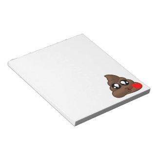Heart Love Poop Emoji Notepad