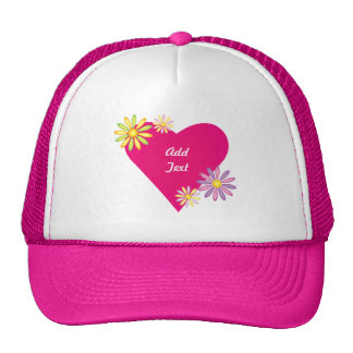 Heart Love Romance Gifts and Gear Mesh Hats