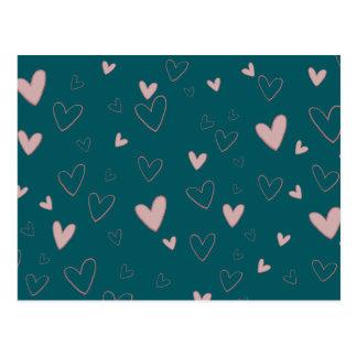 Heart Love Romantic Poetic Valentine's Day Postcard