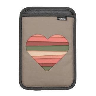 Heart Love Striped Valentine's Day iPad Mini Sleeve