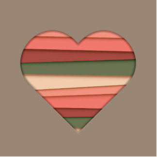 Heart Love Striped Valentine's Day Photo Sculpture Magnet