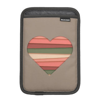 Heart Love Striped Valentine's Day Sleeve For iPad Mini
