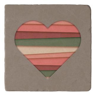 Heart Love Striped Valentine's Day Trivet