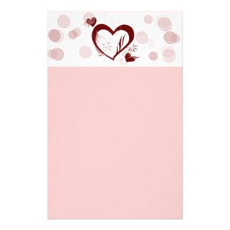 Heart Love Valentine Stationery