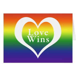Heart Love Wins Rainbow Card