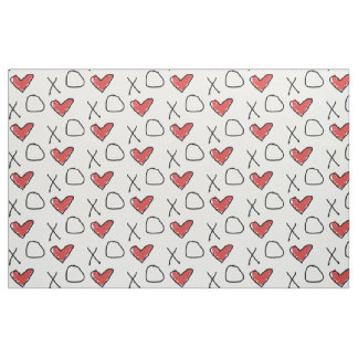 Heart Love X O Fabric