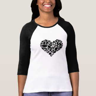 Heart Made of Countries On Baseball Jersey T-Shirt