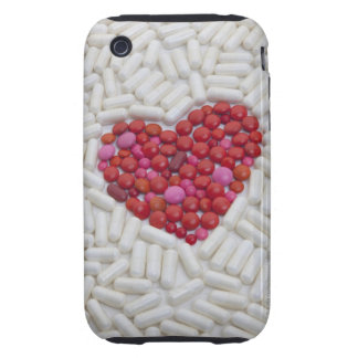 Heart made of red pills tough iPhone 3 case