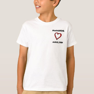 heart, MAKENZIE, ASHLYNN (youth) T-Shirt