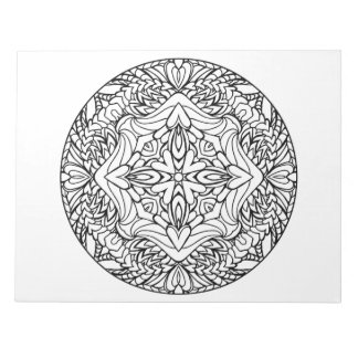 Heart Mandala Coloring Book Pad