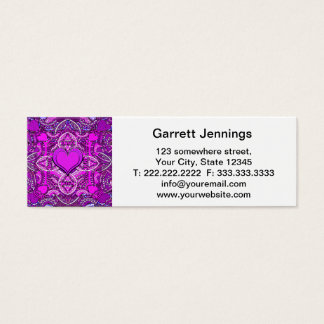 Heart Mandala Mini Business Card