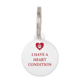 Heart Medical Alert Pet Tag