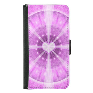 Heart Meditation Mandala Samsung Galaxy S5 Wallet Case
