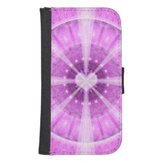 Heart Meditation Mandala Samsung S4 Wallet Case