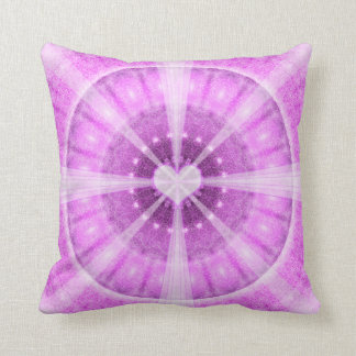 Heart Meditation Mandala Throw Pillow