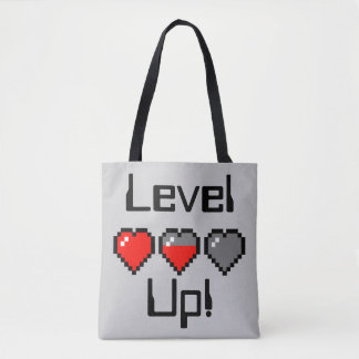Heart Meter - Level up! Tote Bag