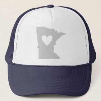 Heart Minnesota state silhouette Trucker Hat