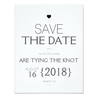 {Heart} Modern Save the Date Card