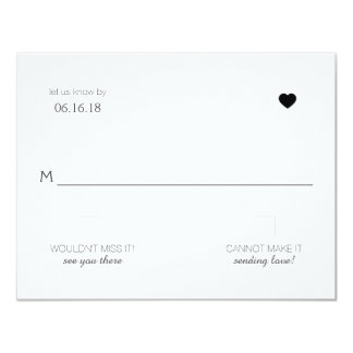 {Heart} Modern Wedding RSVP Card