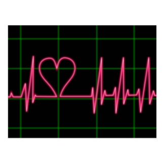 Heart Monitor Postcard