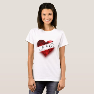 Heart Monogram Love Stay Strong T-Shirt