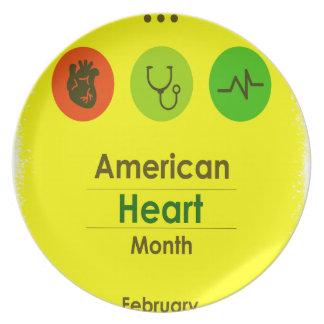 Heart Month February - Appreciation Day Plates