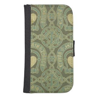 Heart motif ecclesiastical wallpaper design phone wallet case