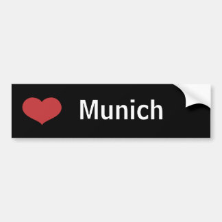 Heart Munich Bumper Sticker